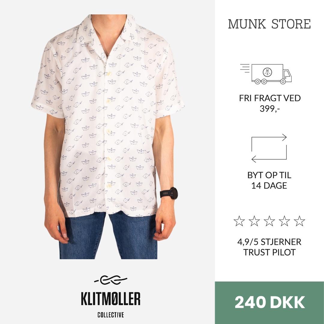 Hector shirt - White/Navy - XL